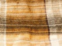 现代熟悉内情的检查色的衬衣织品棉绒结束textu 免版税库存图片