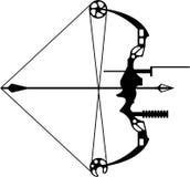 现代狩猎弓箭 免版税库存图片