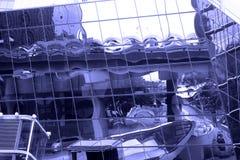 现代玻璃和concret大厦 免版税图库摄影