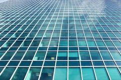 现代玻璃大厦企业唱腔 免版税库存照片
