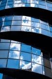 现代玻璃门面 库存图片