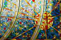 现代玻璃马赛克 库存图片