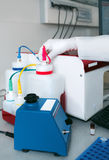现代生物实验室细节  免版税库存照片