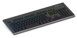 现代由后照的键盘 免版税图库摄影