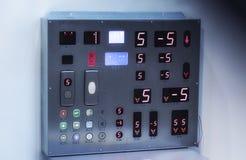 现代电梯按钮 免版税库存照片