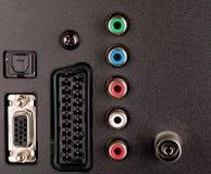现代电视音频视频输入控制板 免版税库存图片