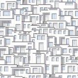 从现代白色房子的背景 免版税库存图片