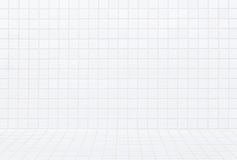 现代白色砖墙无缝的背景和样式 免版税图库摄影