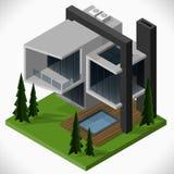 现代的房子 向量例证