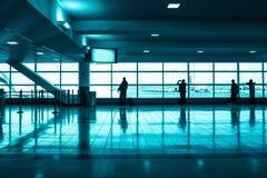 现代的机场 免版税库存图片