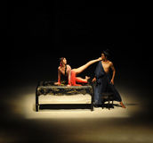 现代的芭蕾舞剧:中华的金莲花 免版税库存图片