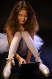 现代的芭蕾舞女演员 库存照片