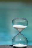 现代的滴漏 时间的标志 读秒 库存照片