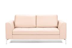 现代皮革沙发 免版税库存照片