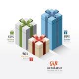 现代礼物盒infographics元素 设计传染媒介illustratio 向量例证