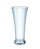 现代空的水杯 向量 免版税库存图片