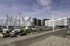 现代建筑学和都市从事园艺 库存图片