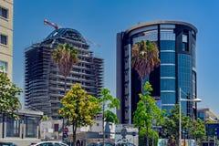 现代建筑学在利马索尔,塞浦路斯 免版税库存照片