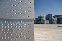 现代建筑学在奥斯陆 图库摄影
