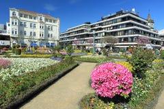 现代建筑学在拉格 免版税库存照片