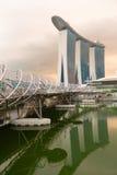 现代建筑学在新加坡市 图库摄影