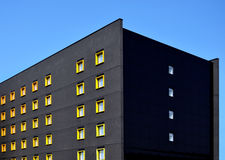 现代建筑学在沃尔索尔市中心,英国 图库摄影