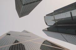 现代建筑学摩天大楼在中国,香港 2015年11月28日 图库摄影