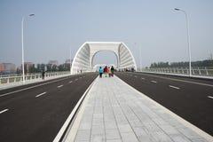 现代建筑学,桥梁 免版税图库摄影