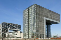 现代建筑学,莱茵河地平线,科隆 库存图片