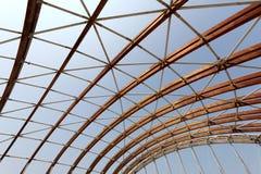 现代建筑木板条 免版税库存图片