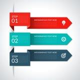 现代箭头infographic元素 库存例证