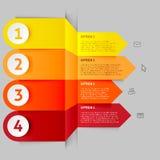 现代箭头infographics元素 免版税库存图片
