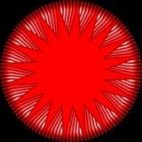 现代红色星shede 免版税库存图片