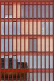 现代红色门面 免版税库存图片