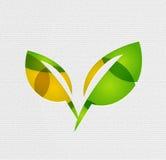 现代纸设计eco留下概念 库存照片