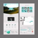 现代网站模板设计 库存图片