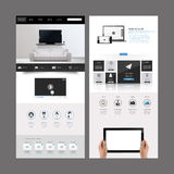 现代网站模板设计 图库摄影