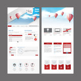 现代网站模板设计 免版税库存照片