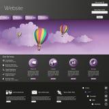 现代网站模板EPS 10传染媒介例证 免版税库存图片
