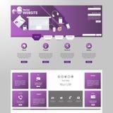 现代网站模板EPS 10传染媒介例证 免版税库存照片