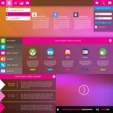 现代网站设计模板。地铁样式 免版税库存照片