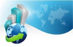 现代背景。企业地球图表 免版税图库摄影