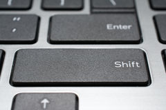现代膝上型计算机键盘特写镜头 免版税库存图片