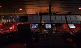 现代船的操舵室 免版税库存图片