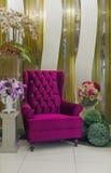 现代紫色扶手椅子 库存照片