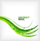 现代绿色eco漩涡抽象 库存图片