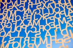 现代艺术在安地比斯村庄 免版税库存照片