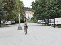 现代艺术陈列在Tivoli公园 卢布尔雅那斯洛文尼亚 图库摄影
