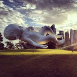 现代艺术雕塑 免版税库存图片