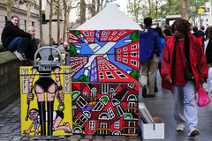 现代艺术绘画在曼哈顿纽约 免版税库存图片